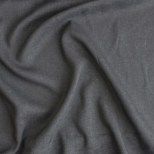 Rayon Linen Voile - Charcoal | Blackbird Fabrics