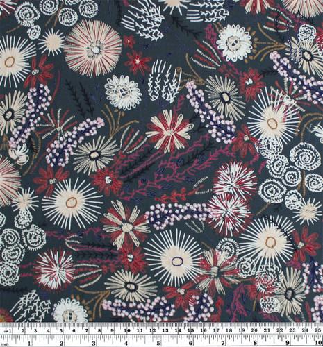Hand Drawn Polyester Crepe - Forest | Blackbird Fabrics
