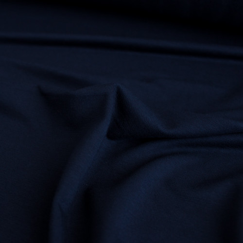 Bamboo Jersey Knit - Midnight Blue | Blackbird Fabrics