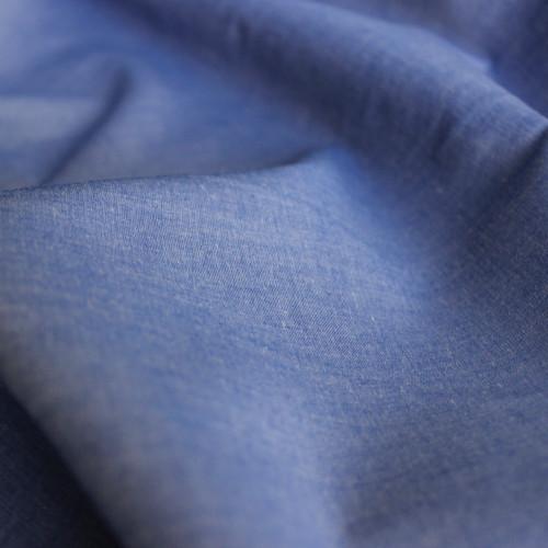 Chambray Japanese Cotton Shirting - Blue - 1/2 meter