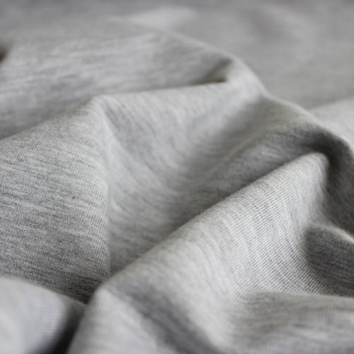 Bamboo & Cotton French Terry - Light Grey Mix | Blackbird Fabrics