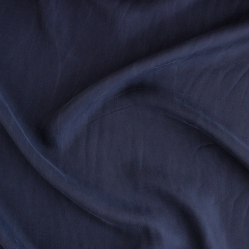 Cupro & Viscose Twill - Dark Denim | Blackbird Fabrics