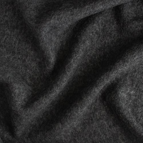 Boiled Wool & Viscose - Heathered Charcoal  | Blackbird Fabrics
