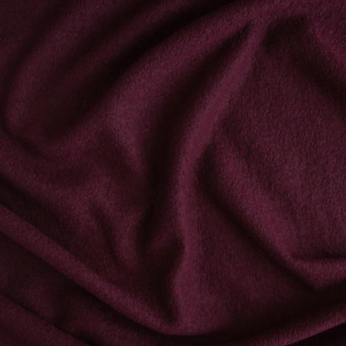 Boiled Wool & Viscose - Burgundy | Blackbird Fabrics