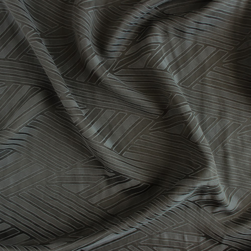 Cupro & Tencel Jacquard - Olive | Blackbird Fabrics