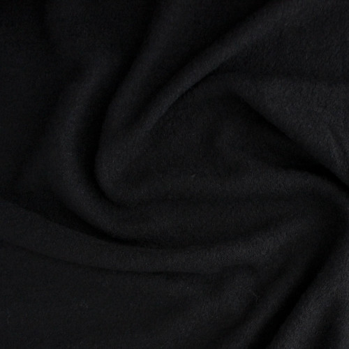 Boiled Wool & Viscose - Black | Blackbird Fabrics