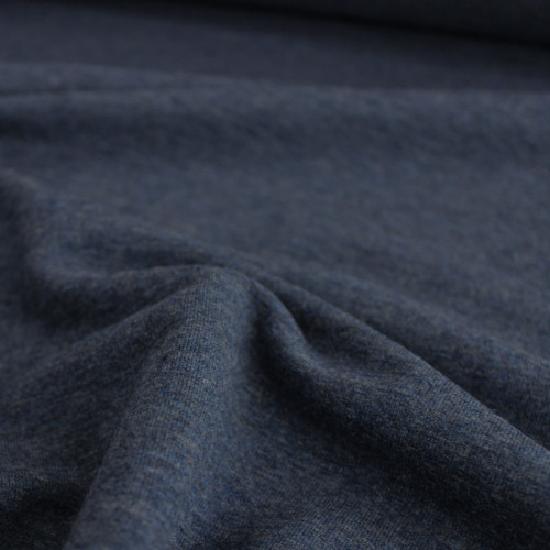 Bamboo & Cotton French Terry - Heather Lake   Blackbird Fabrics