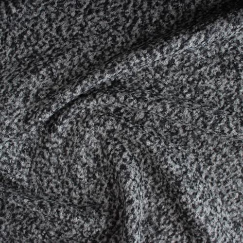 Wool Blend Boucle Coating - Medium Grey | Blackbird Fabrics
