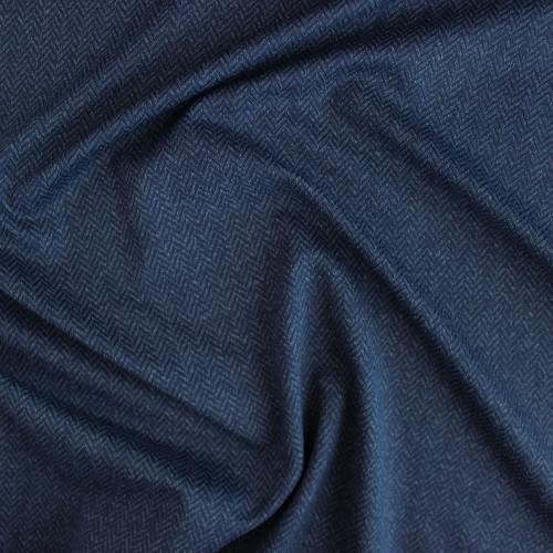 Peached Herringbone Knit - Navy | Blackbird Fabrics