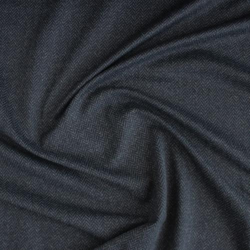 Peached Herringbone Knit - Charcoal | Blackbird Fabrics
