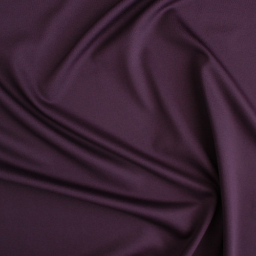 Recycled Poly Athletic Knit - Eggplant | Blackbird Fabrics
