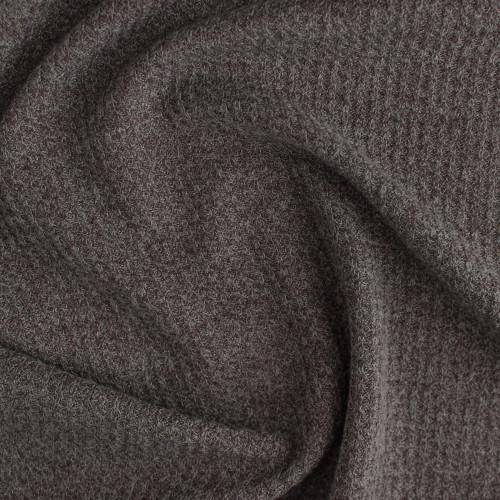 Waffle Sweater Knit - Heather Mocha | Blackbird Fabrics