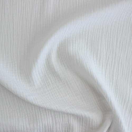 Cotton Double Gauze - White | Blackbird Fabrics