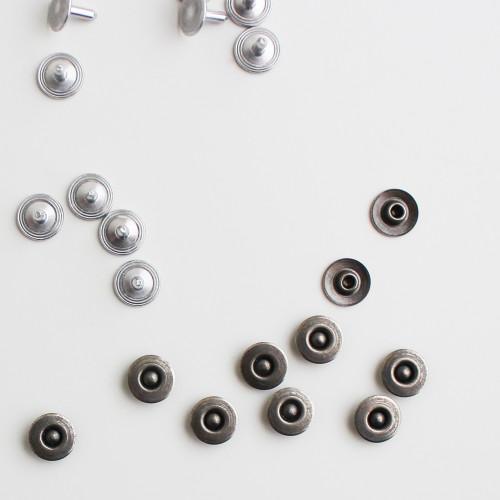 Jeans Rivets - Antique Silver - Set of 10 | Blackbird Fabrics