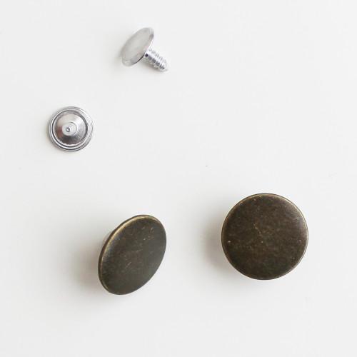 Jeans Buttons - Antique Brass - Set of 2 | Blackbird Fabrics
