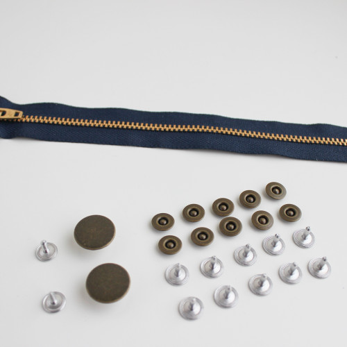 Jeans Hardware Kit - Antique Brass | Blackbird Fabrics