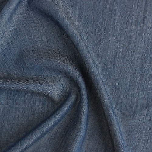 Cross Hatch Tencel Denim - Dark Wash | Blackbird Fabrics