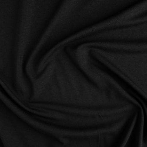 Tencel & Organic Cotton Jersey - Black | Blackbird Fabrics