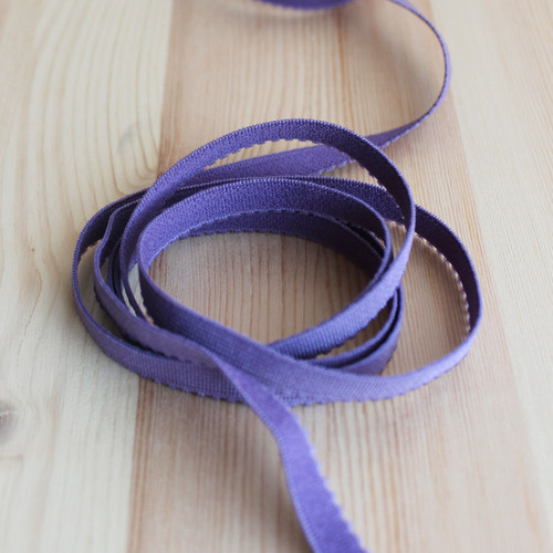 "3/8"" (9mm) Plush Back Elastic - Dusty Violet - 1 meter"