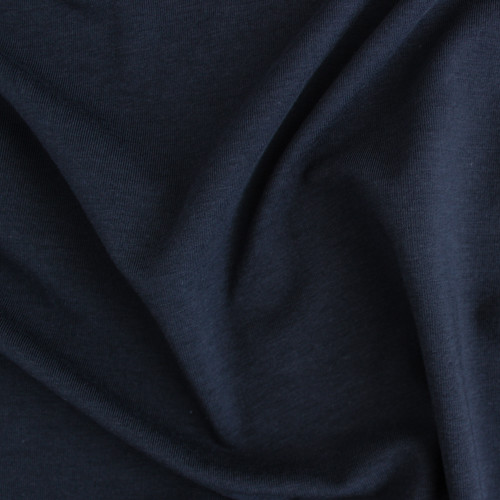 Tencel & Organic Cotton Jersey - Navy | Blackbird Fabrics