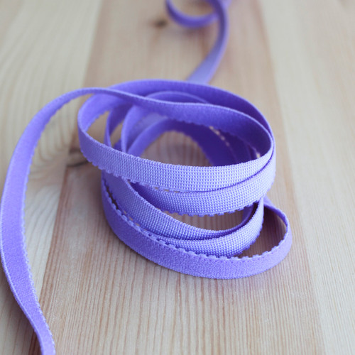 "3/8"" (9mm) Plush Back Elastic - Blue Violet - 1 meter"