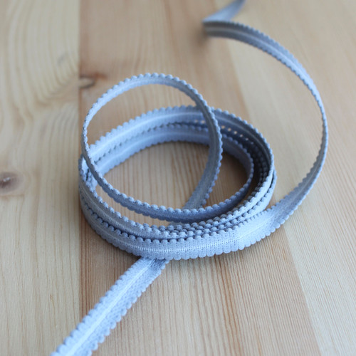 "3/8"" (9mm) Plush Elastic Strapping - Smoke - 1 meter"