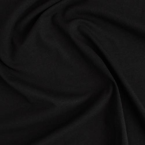 Organic Cotton Jersey - Black | Blackbird Fabrics