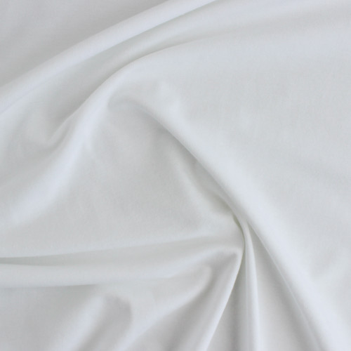 Organic Cotton Jersey - White | Blackbird Fabrics