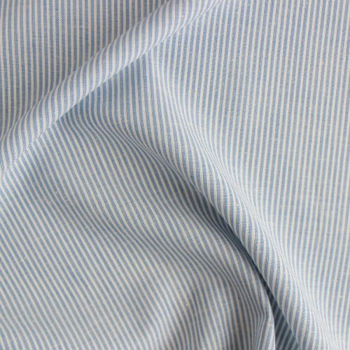 Bamboo, Hemp, & Organic Cotton Micro Stripe - Sea | Blackbird Fabrics
