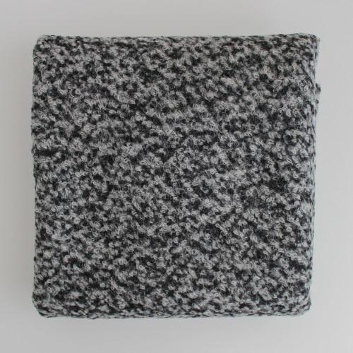 Remnant - 80cm - Wool Blend Boucle Coating - Medium Grey