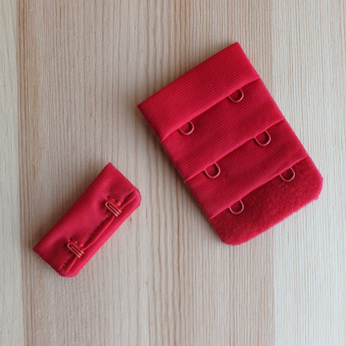 Hook & Eye Closure - 2X3 - Red