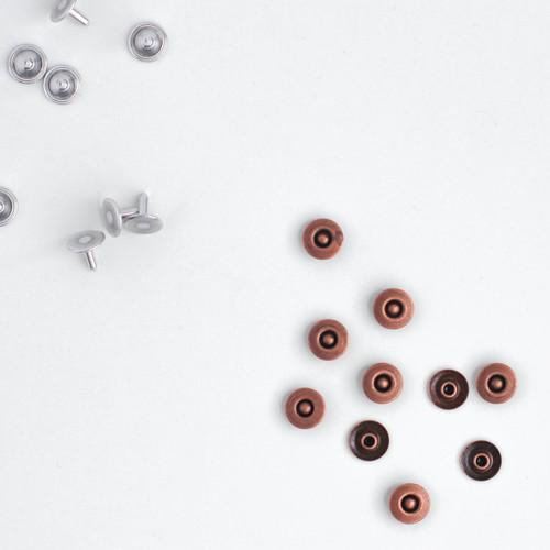 Jeans Rivets - Copper - Set of 10 | Blackbird Fabrics