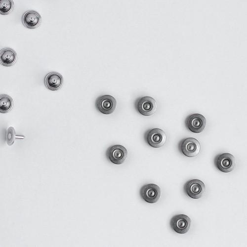 Jeans Rivets - Nickel - Set of 10 | Blackbird Fabrics