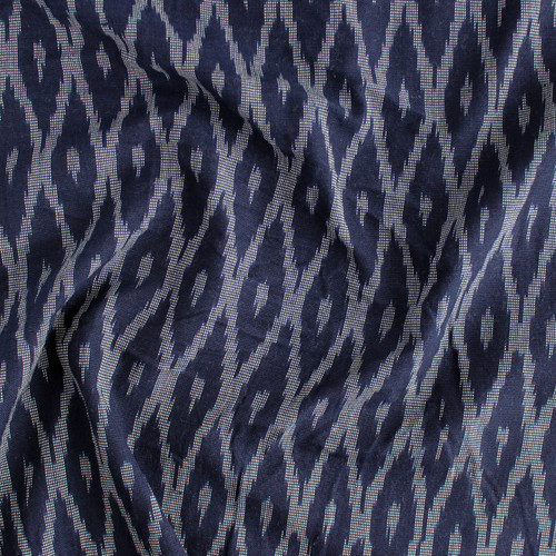 Diamond Cotton Indian Ikat - Nay/Grey | Blackbird Fabrics