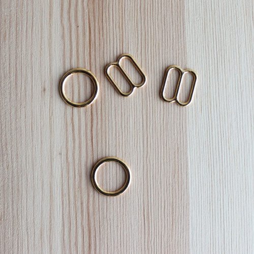 "Rings & Sliders - Gold - 3/8"" (9mm)"
