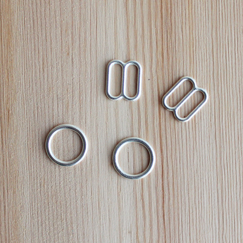 "Rings & Sliders - Silver - 3/8"" (9mm)"