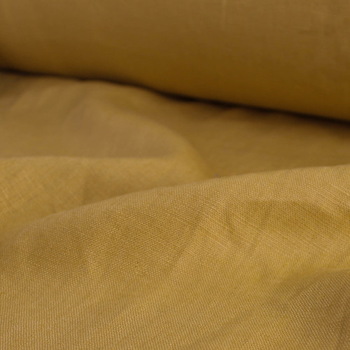 Mid-Weight Linen - Mustard   Blackbird Fabrics