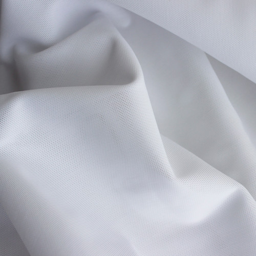 Firm Power Mesh - White | Blackbird Fabrics