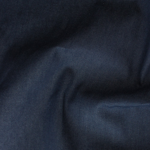 12.25oz Cotton & Tencel Non-Stretch Denim - Indigo | Blackbird Fabrics