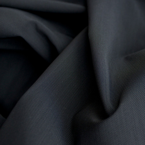 Firm Power Mesh - Black | Blackbird Fabrics