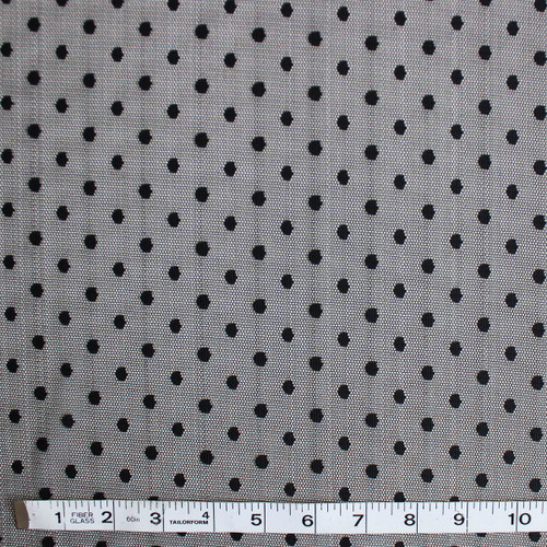 Dotted Mesh Netting - Black - 1/2 meter