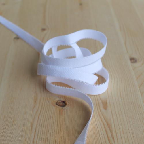 """1/2"""" (12mm) Plush Back Elastic - White - 1 meter"""