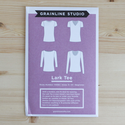 Lark Tee by Grainline Studio | Blackbird Fabrics