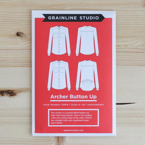 Archer Button Up Shirt by Grainline Studio | Blackbird Fabrics