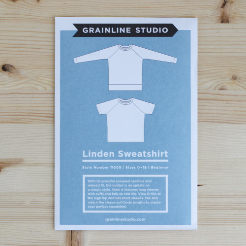 Linden Sweatshirt by Grainline Studio | Blackbird Fabrics