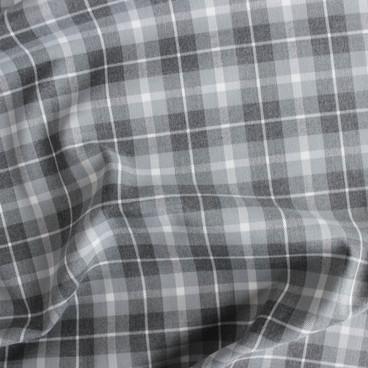 Medium Weight Plaid Grey Blackbird Fabrics