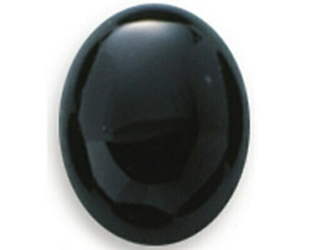 Oval 9 x 7mm Black Onyx Cabochon Stone, Sold By Each   87958