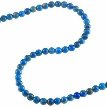 "Denim Lapis 5mm Round Bead 7-8"" |Sold by Bag| 74030"