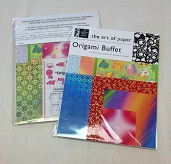 """Origami Buffet 8.5X11"""" 75papers + 14 basic models instructions"""