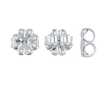 "Friction Ear Nut | 925 Sterling silver 7mm(0.28"") Medium-Weight | Sold By Pair | Bulk Prc Avlb| 690521"